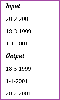 Sorting the date in ascending order in java - Wisdom Overflow