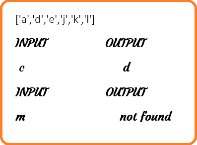 Smallest alphabet greater than given character