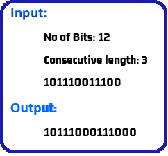 Program to insert 0 after consecutive 1's