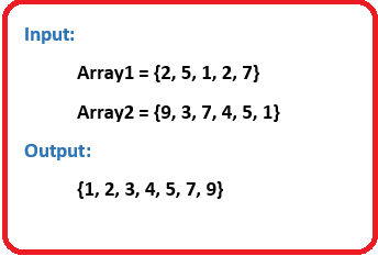 Merge two arrays in sorted order